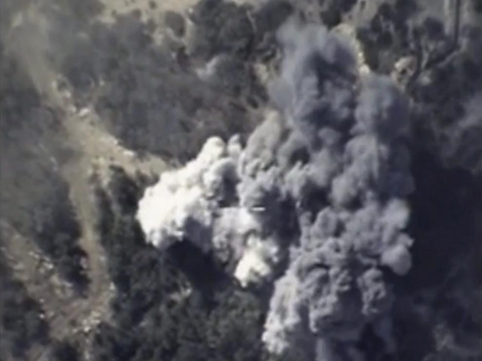 Una imagen de los bombardeos de Rusia