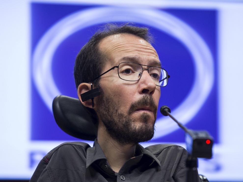 El líder de Podemos en Aragón, Pablo Echenique.