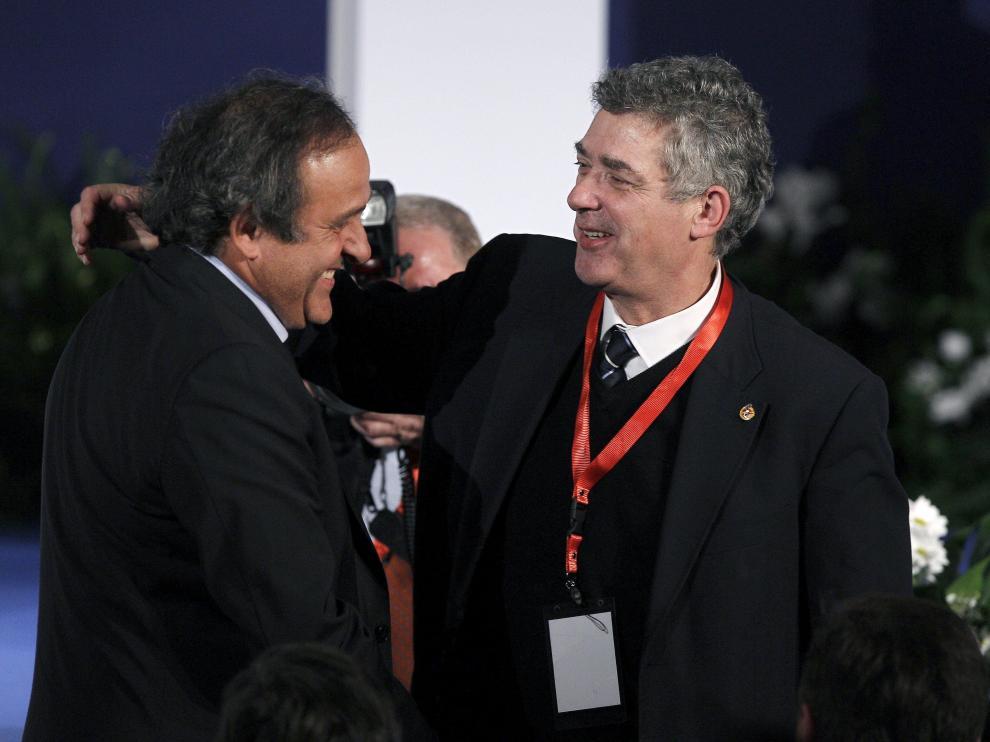 Villar y Platini, en una imagen tomada en 2012