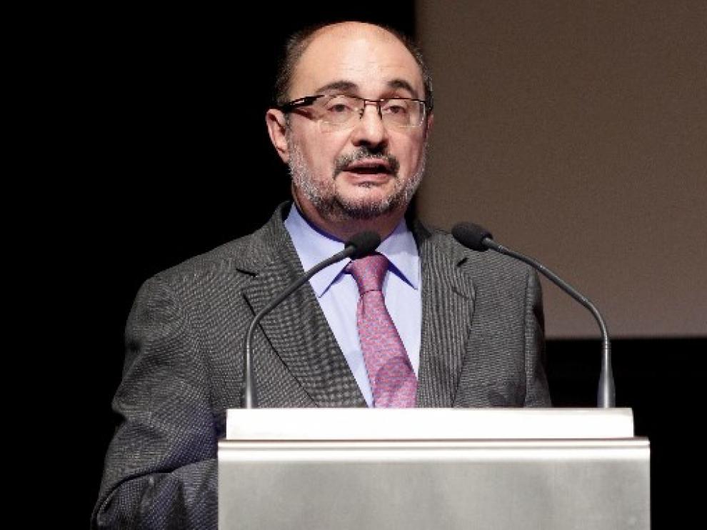 El Presidente de Aragón, Javier Lambán, en una imagen de archivo.