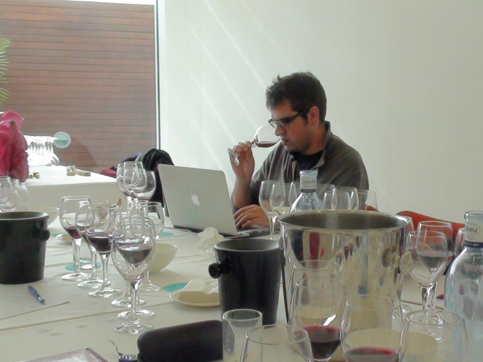Ferran Centelles y Michael Cooper, durante la cata.