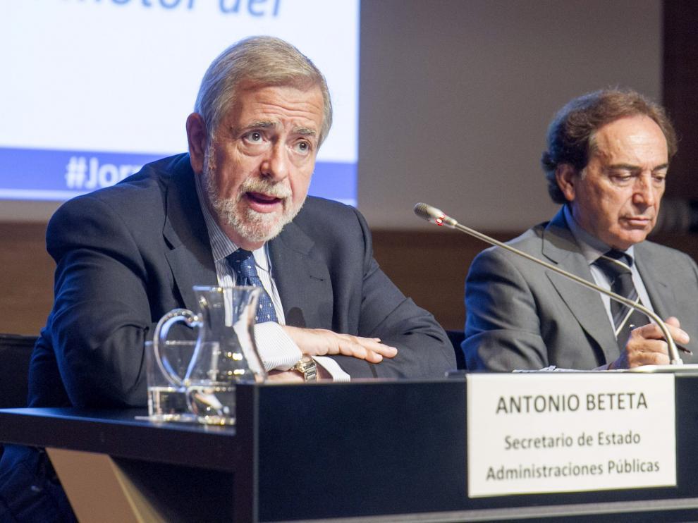 El secretario de Estado de Administraciones Públicas del Gobierno, Antonio Beteta