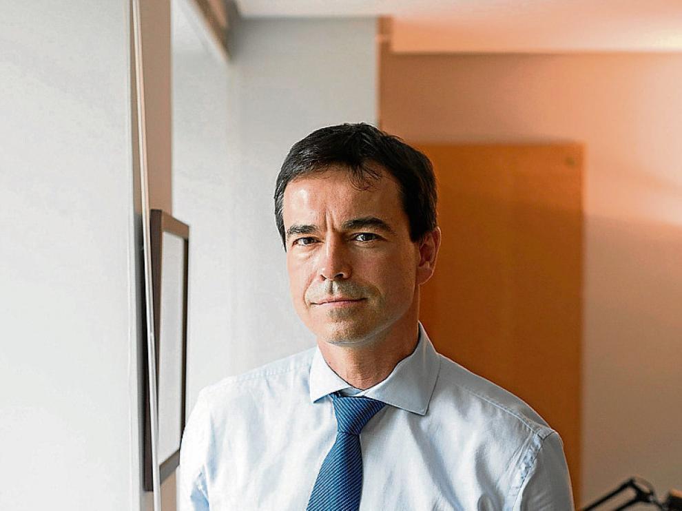 El político y abogado Andrés Herzog, en la sede de UPyD.