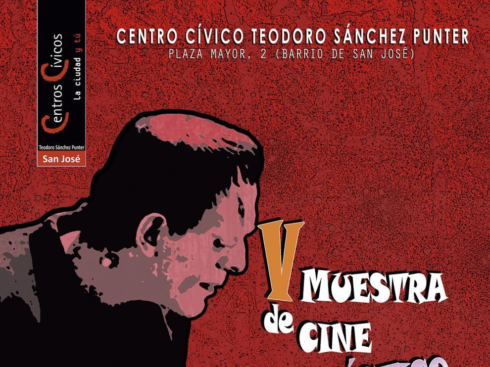 Cartel de la V Muestra de Cine Fantástico y de Terror.