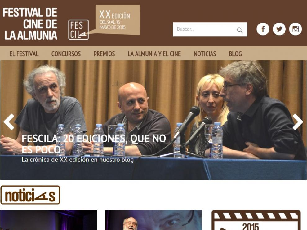 El Festival de Cine de La Almunia estrena página web