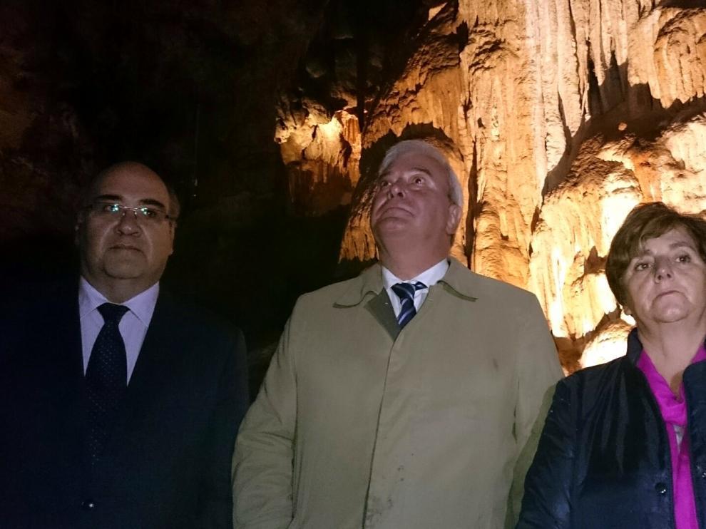 Inauguración de las Grutas de Cristal en Teruel