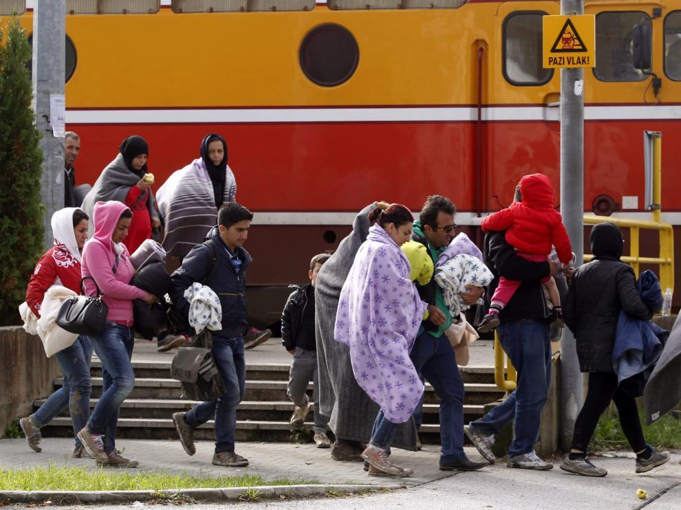 Ola de refugiados en Eslovenia