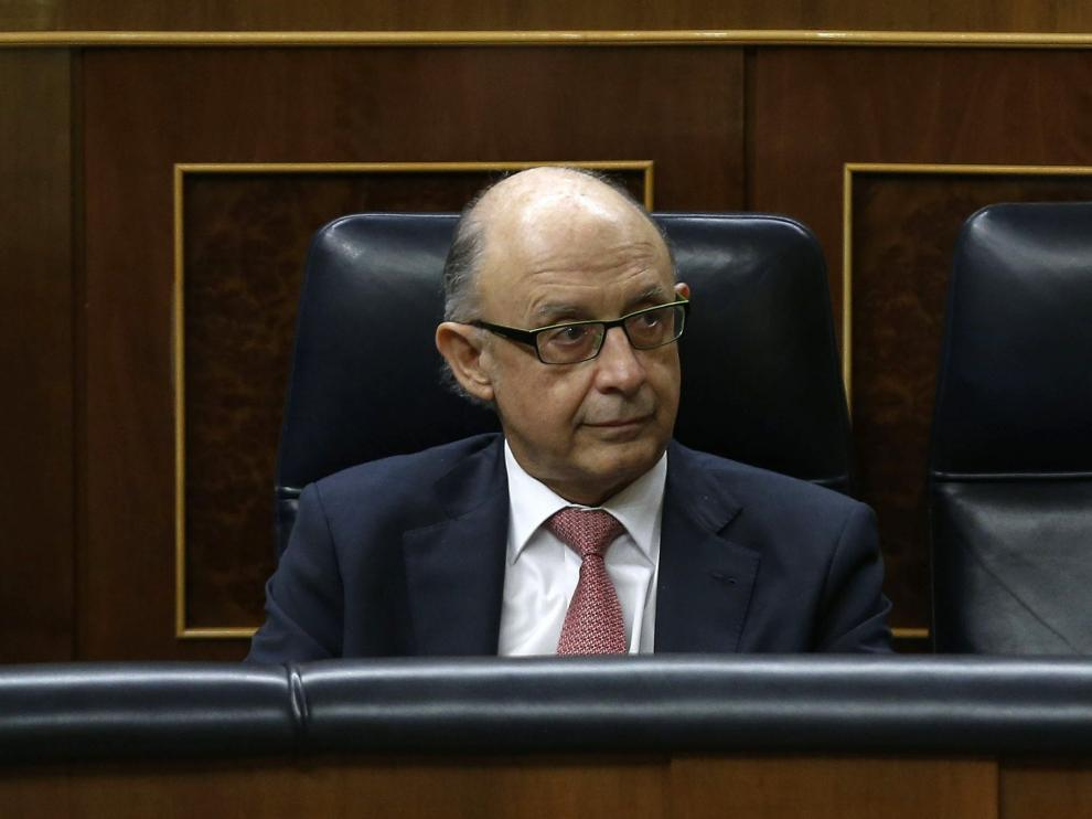 El ministro de Hacienda, Cristobal Montoro, este martes en el Congreso.