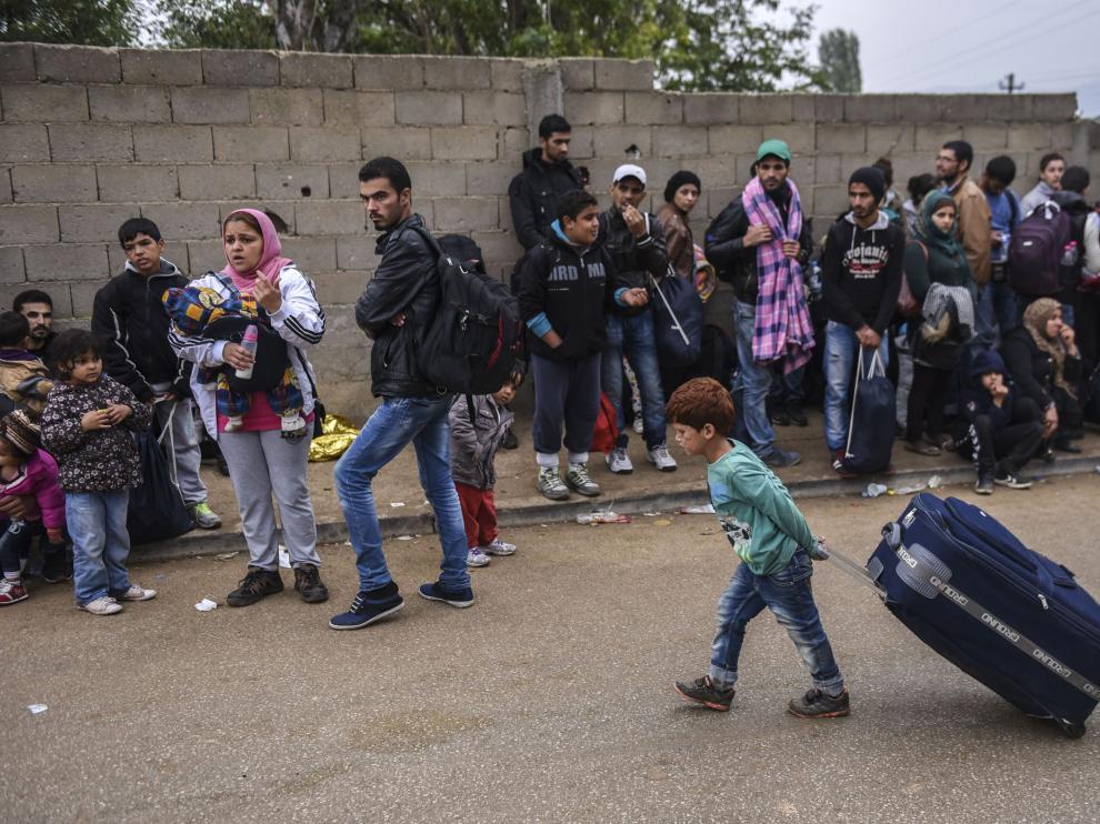 Refugiados en Serbia.