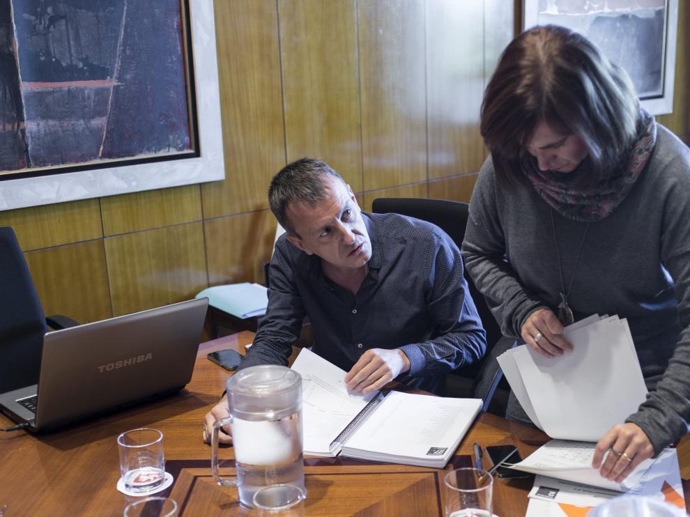 Reunión entre Zec, PSOE, Ciudadanos y CHA.