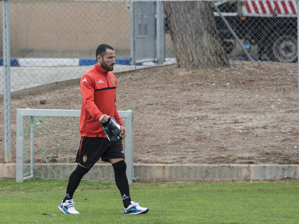 Mario, durante un entrenamiento en la Ciudad Deportiva