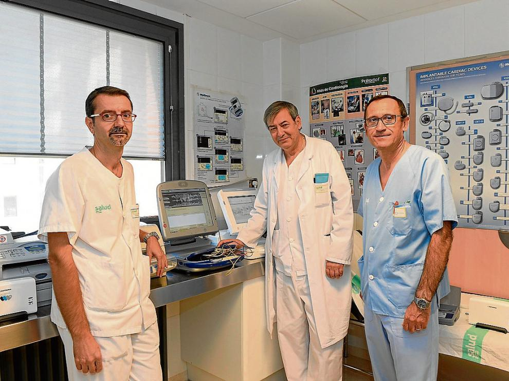 De izquierda a derecha, Orea, Gato y Montón, que integran la Unidad Funcional de Marcapasos.