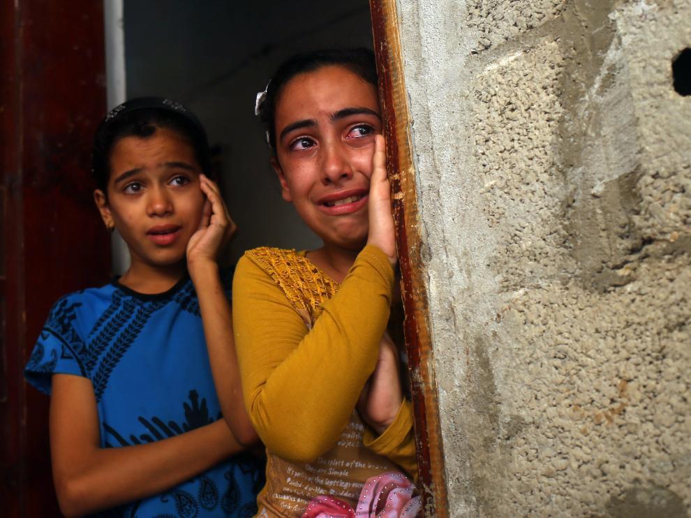 dolor entre los niños palestinos