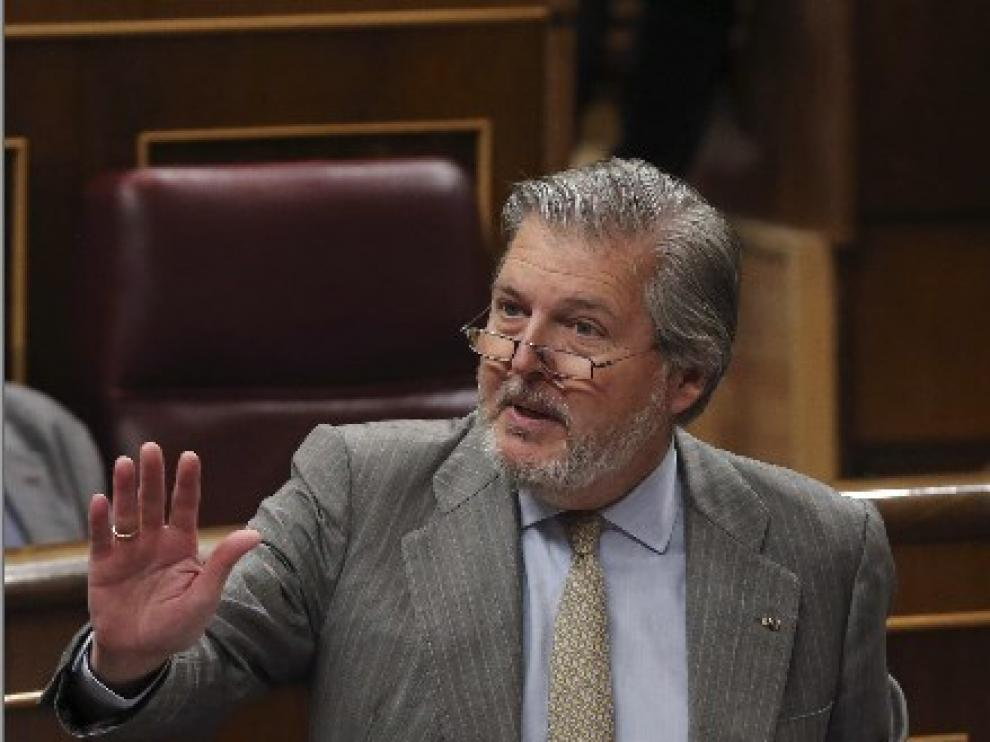Méndez de Vigo durante su intervención en la última sesión de Control al gobierno.