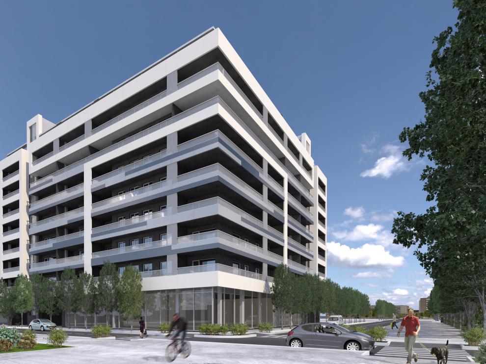 Una recreación del residencial Minerva, que se construirá en Parque Venecia.