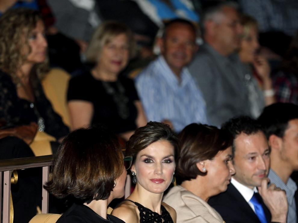 La reina Letizia, durante el cinefórum homenaje a Francis Ford Coppola