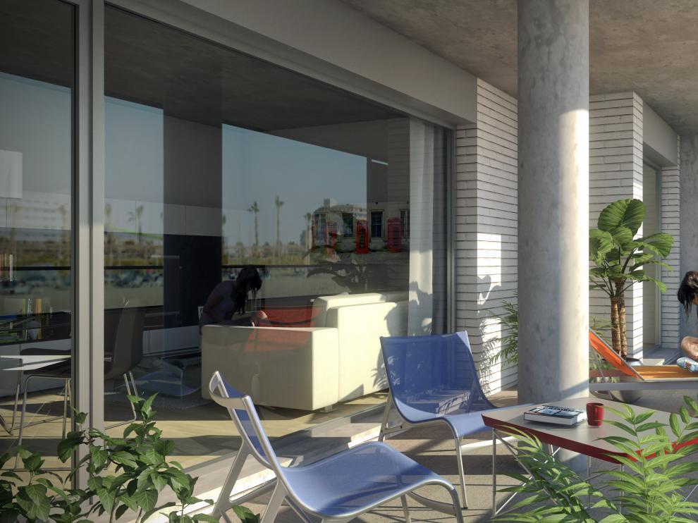 Las viviendas cuentan con terrazas de más de 30 m2.