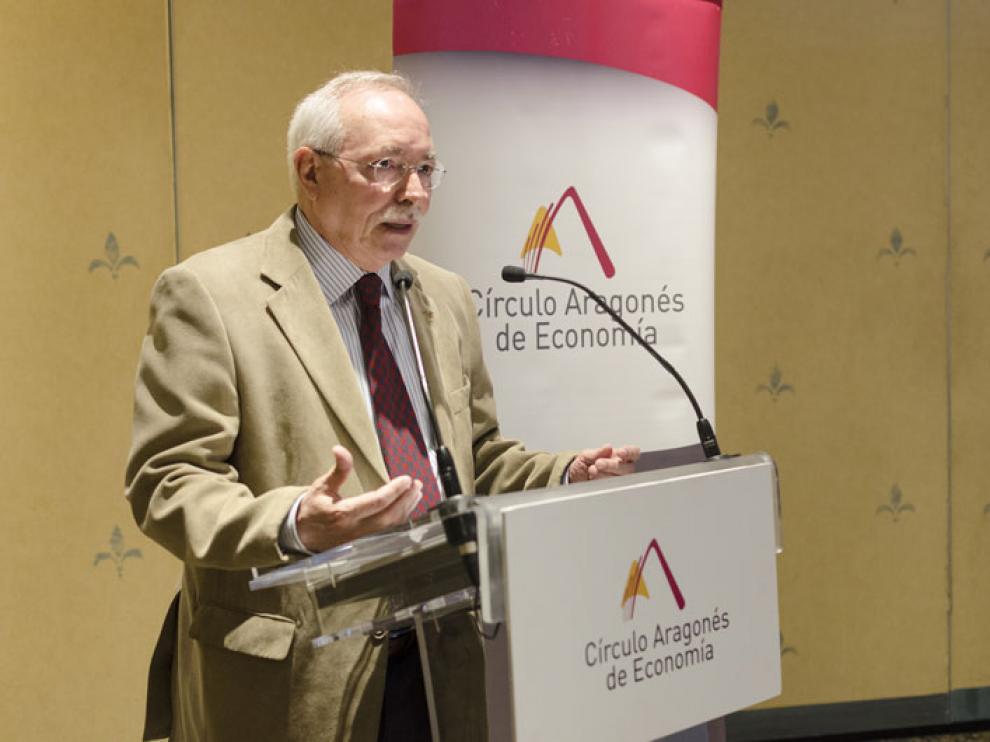 Guillermo Fatás, durante su intervención
