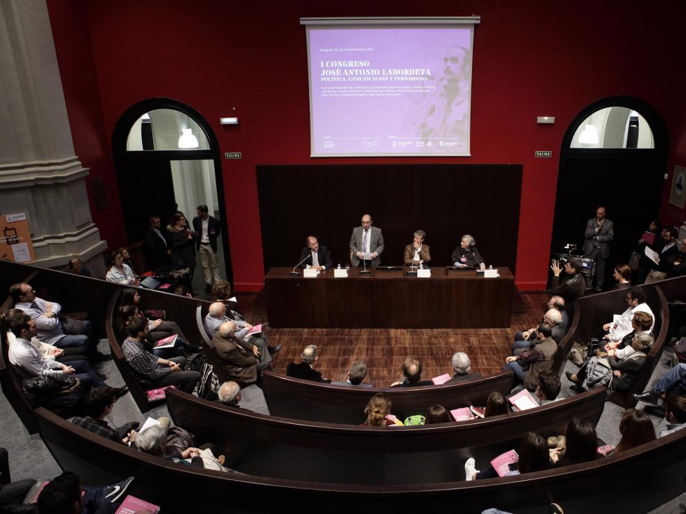 Inauguración del I Congreso de Comunicación, Política y Periodismo Labordeta