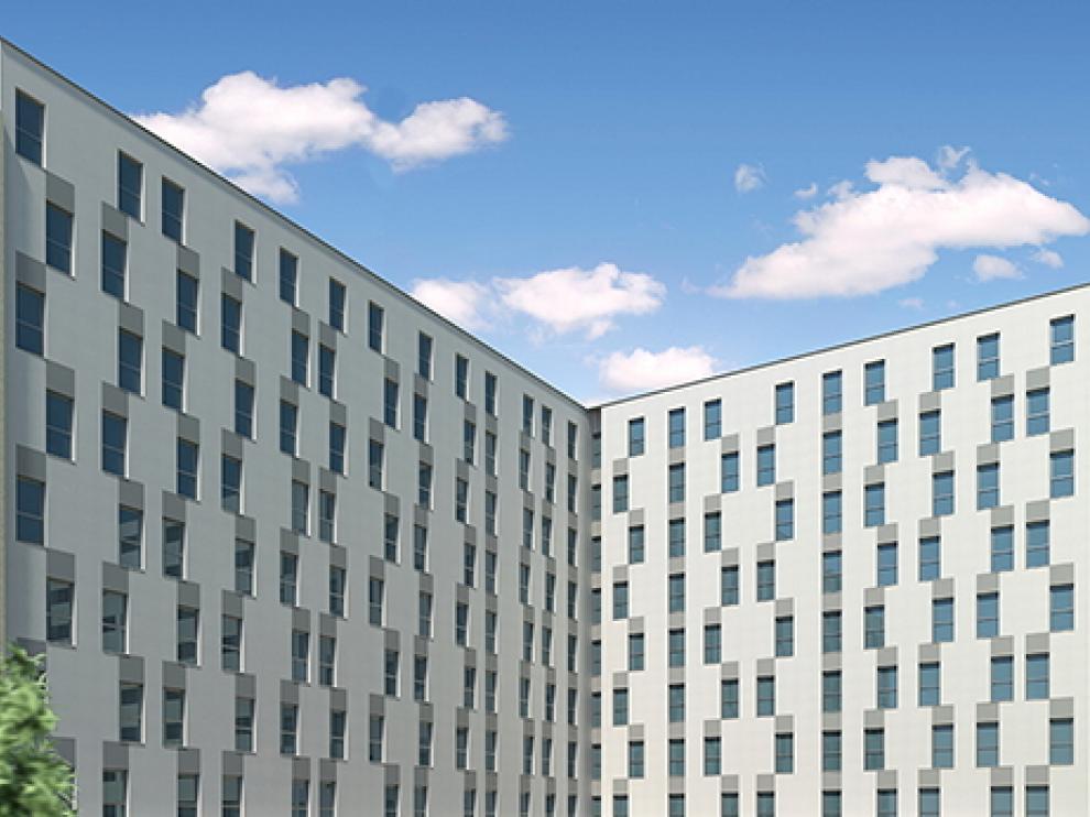 El espacio comunitario del edificio está ideado para disfrutar al máximo de todos los servicios en familia.