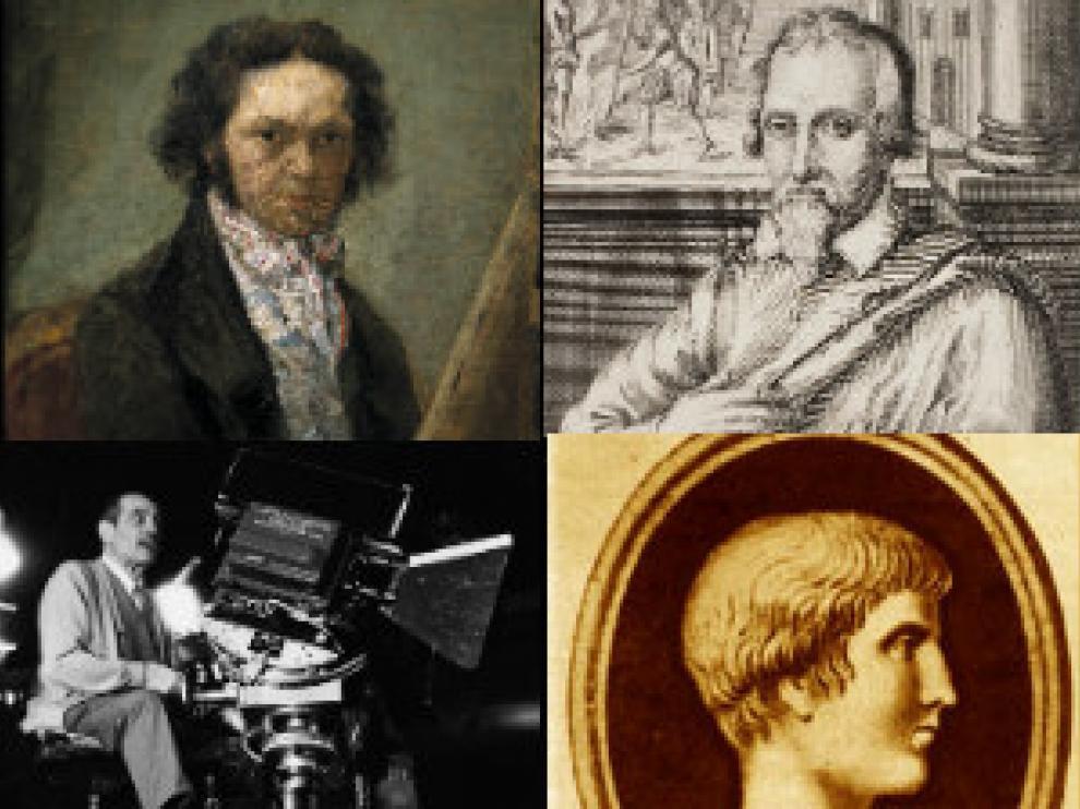 Goya, Miguel Servet, Buñuel y Marcial.