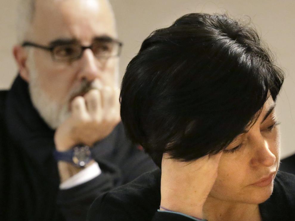 Los padres de Asunta, durante el juicio en Santiago de Compostela.