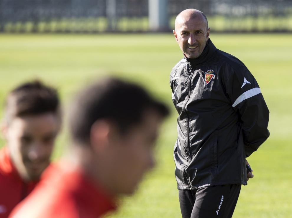 Ranko Popovic, durante un entrenamiento del Real Zaragoza