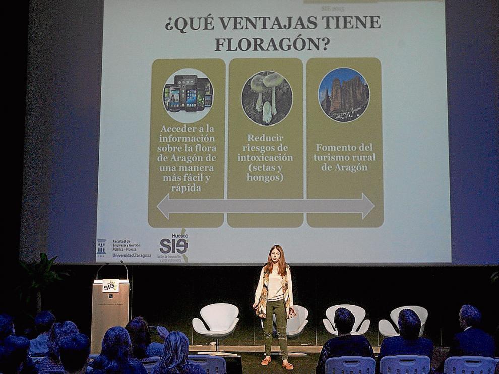 El proyecto 'Floragón App', presentado por Belén Almudévar, fue el ganador de 'Bombillas rotas'.