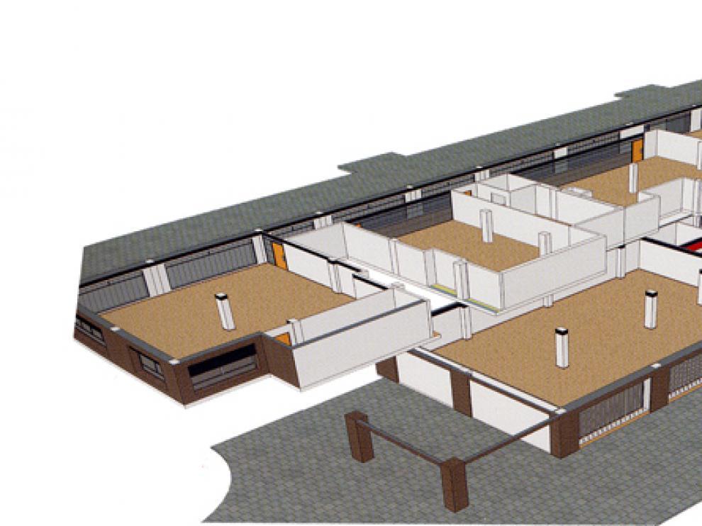 Recreación de las instalaciones previstas para los locales de Duques de Soria.