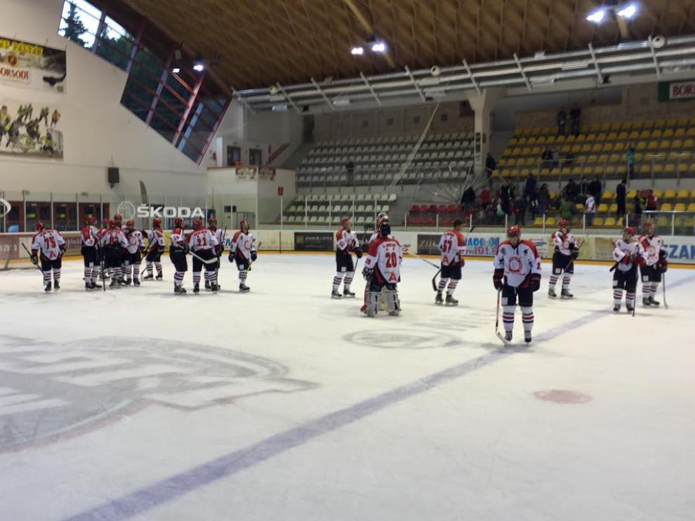 Una imagen del partido del CH Jaca