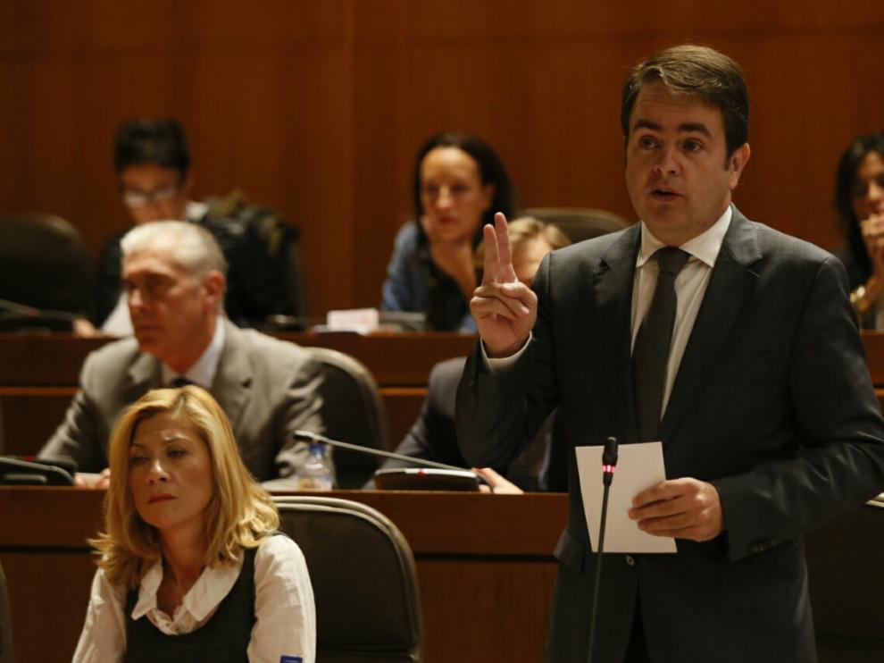 Roberto Bermúdez de Castro, portavoz del PP en las Cortes de Aragón.