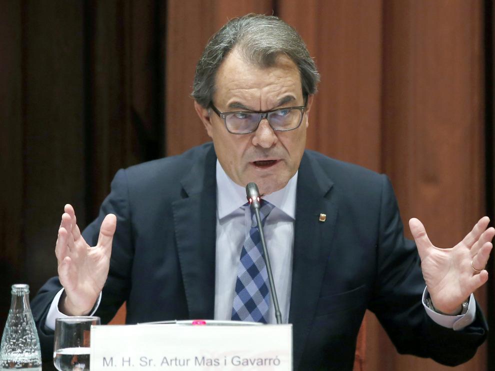El presidente catalán en funciones y líder de CDC, Artur Mas.