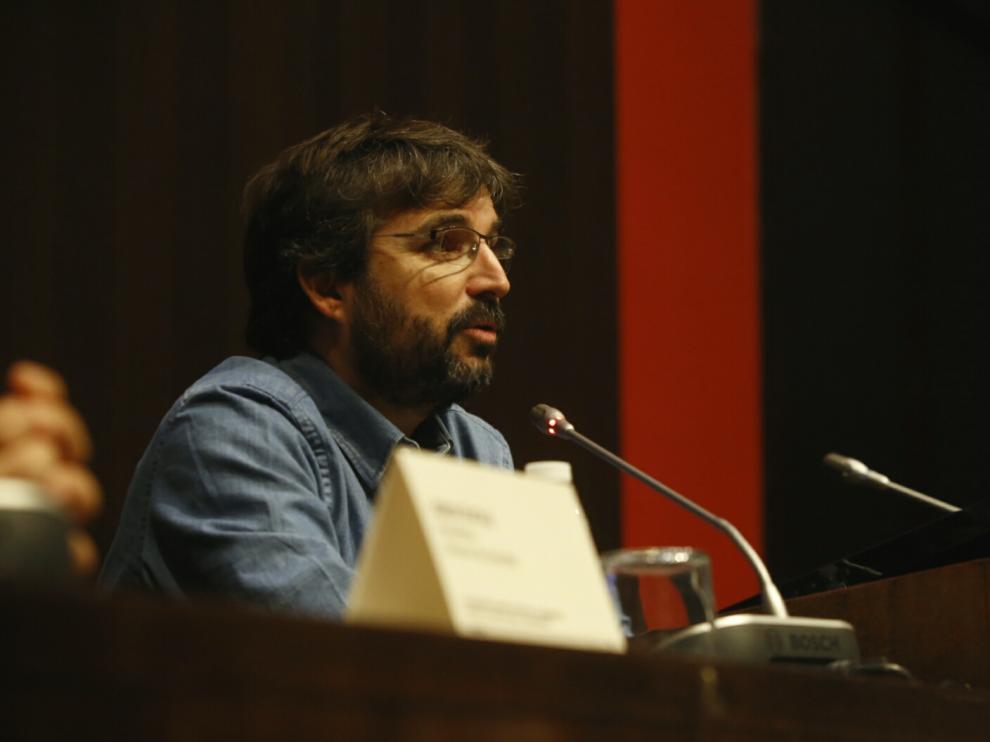 Jordi Évole, en el congreso sobre Labordeta