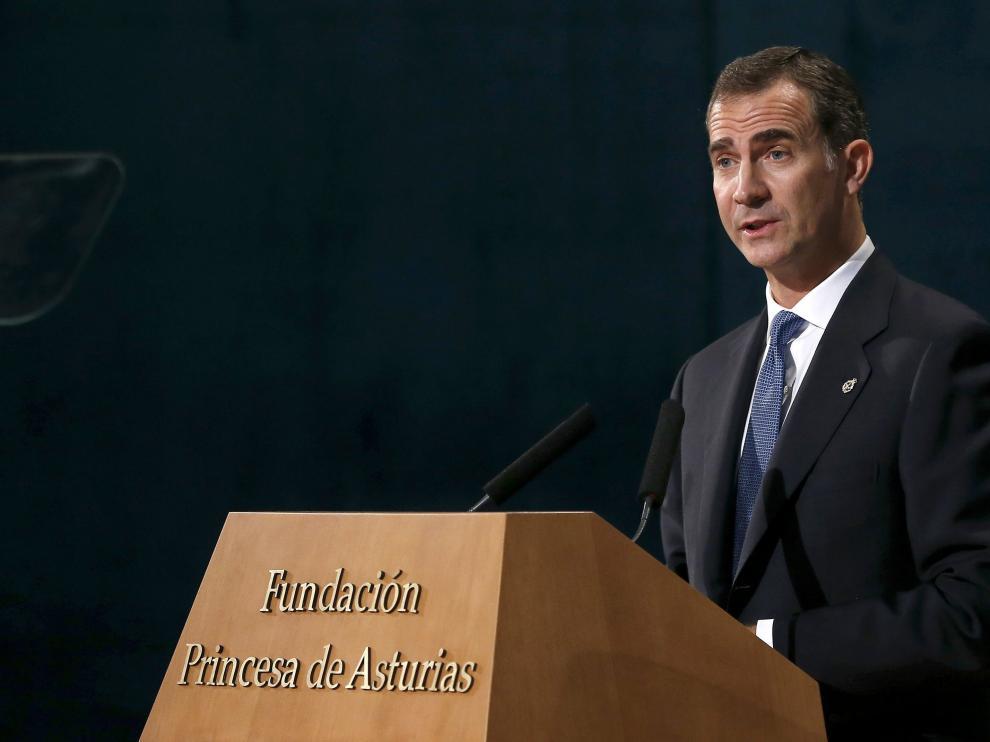El Rey en la entrega de los premios princesa de Asturias