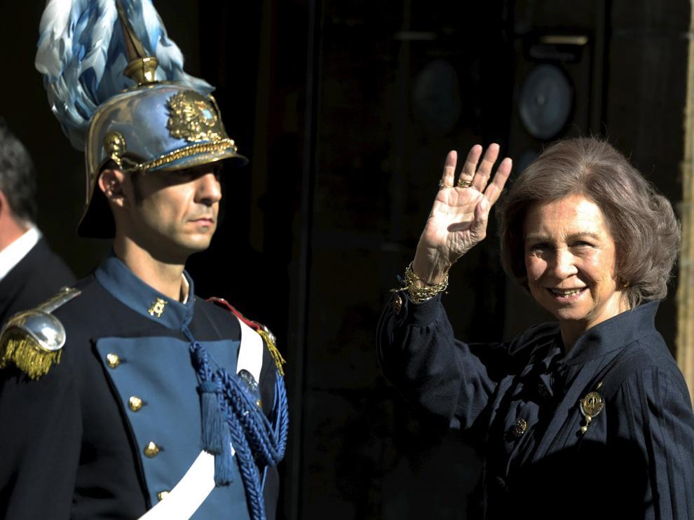 La Reina Sofía ya está en Oviedo para asistir a la entrega de los galardones