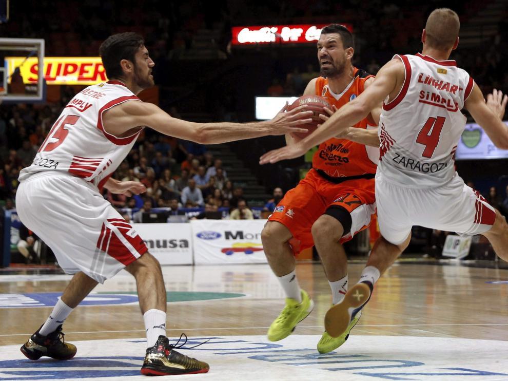 Linhart y Sastre, en la derrota del CAI en Valencia