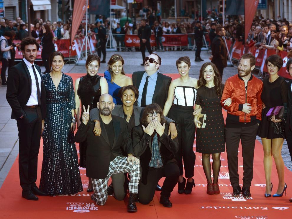 """Integrantes de la película """"Incidencias"""", dirigida por el polifacético José Corbacho."""