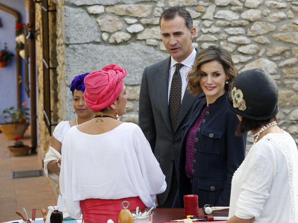 Los reyes Felipe y Letizia, en Colombres.