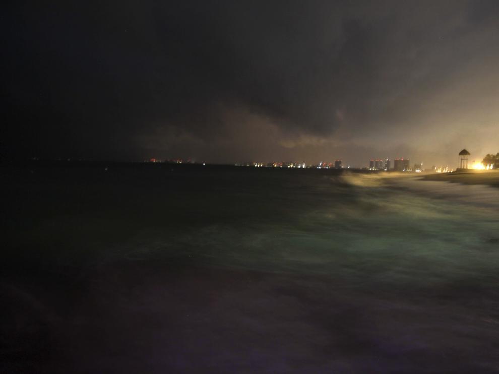 Imagen del huracán Patricia a su paso por Puerto Vallarta, en Jalisco .