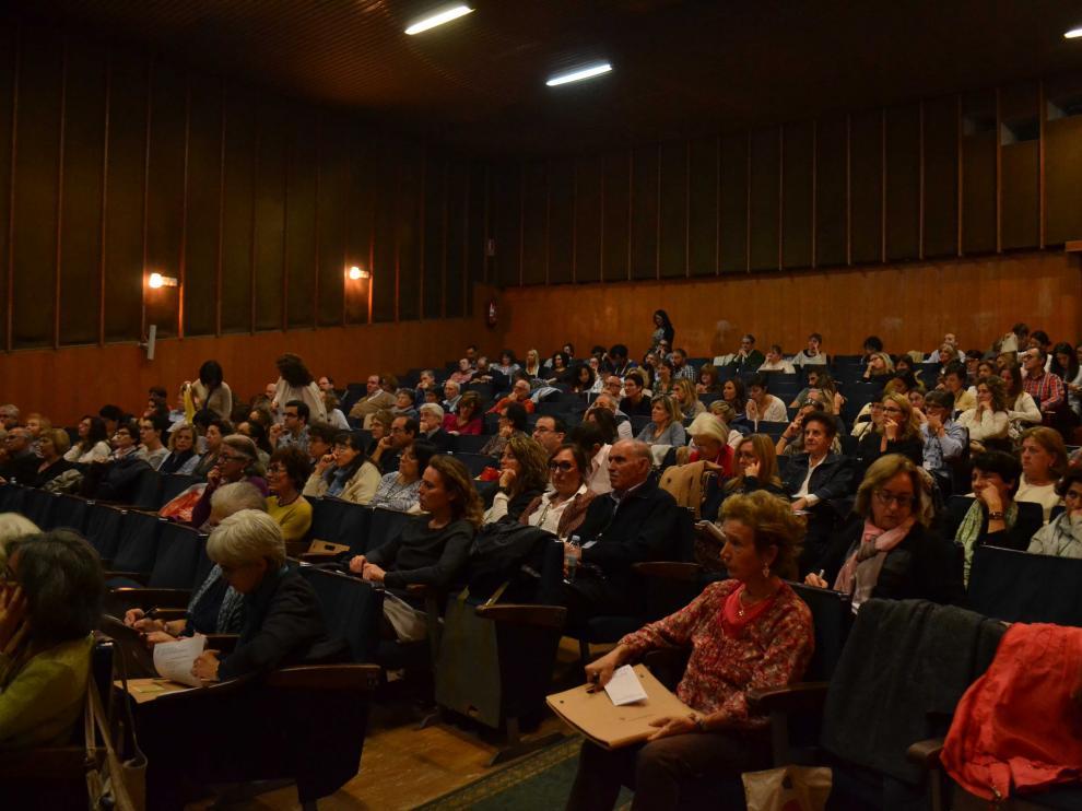 Asistentes a las jornadas sobre mindfulness y Cristianismo celebradas estos días en Zaragoza.