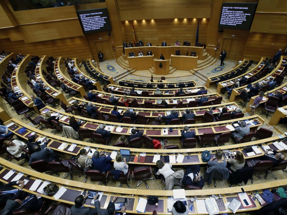 Una imagen de un pleno del Senado