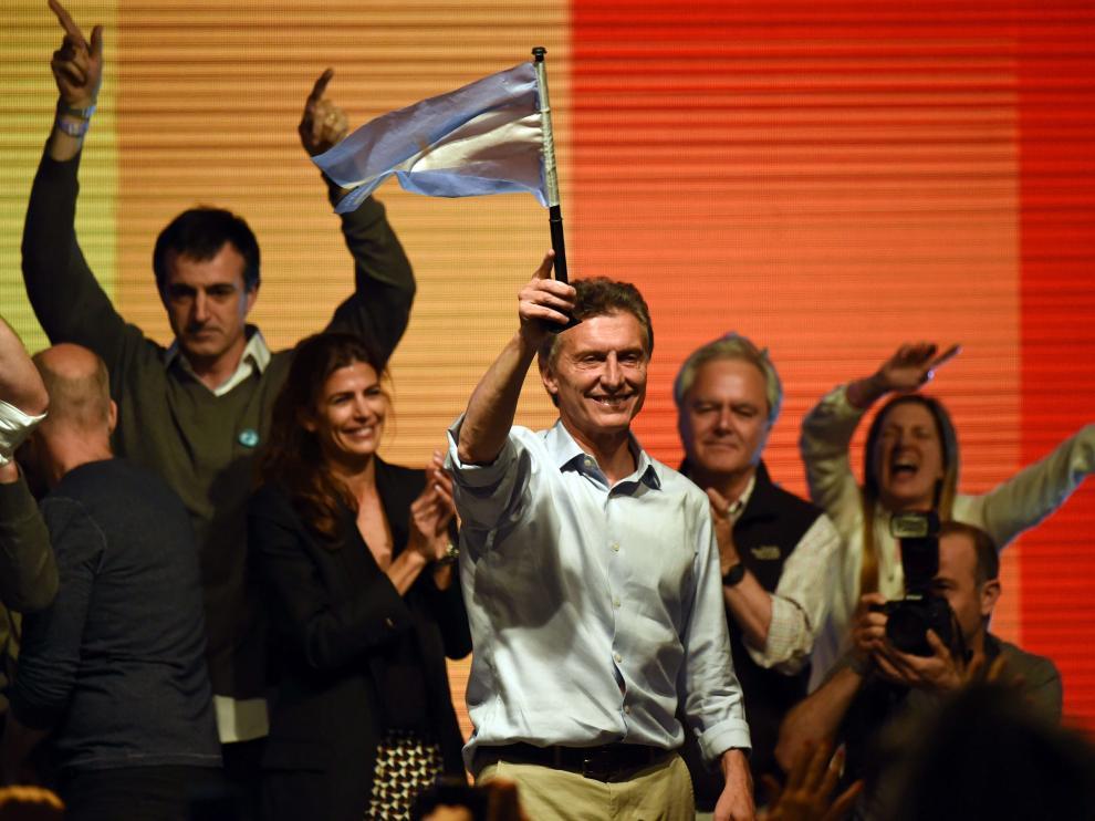 Macri, postulante del frente conservador Cambiemos, obtuvo un 34.75 % en la primera ronda.