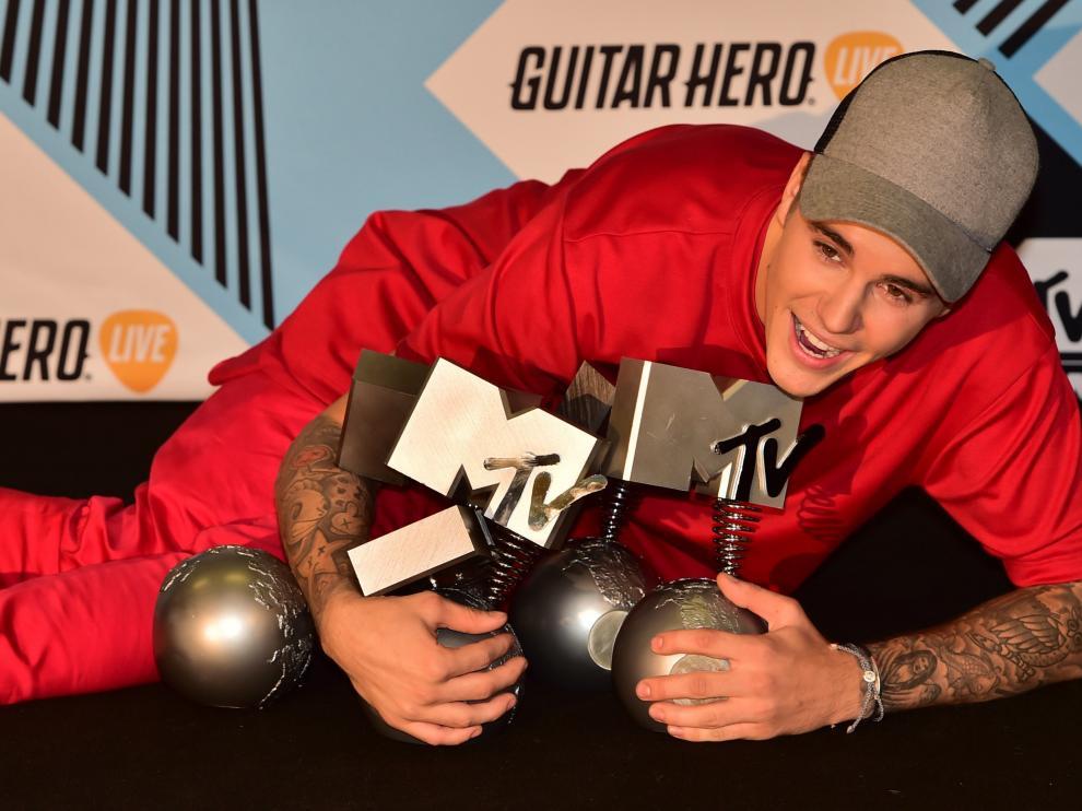 Justin Bieber fue el gran galardonado de la noche.