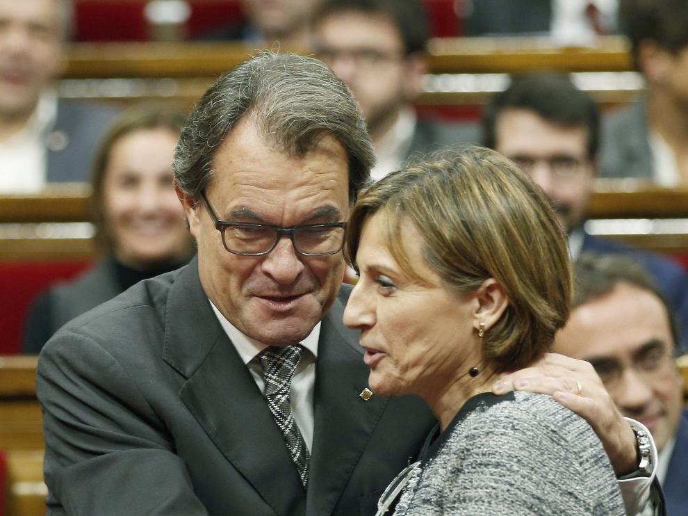 Carme Forcadell y Artur Mas.