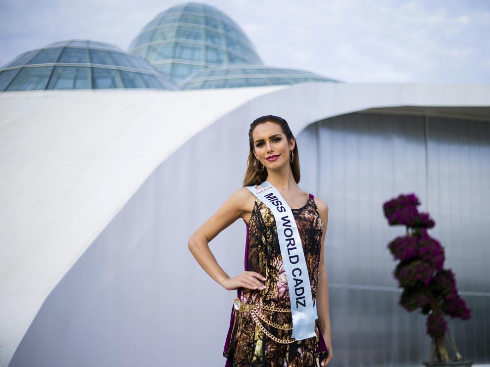 Ángela Ponce, actual Miss Cádiz,  aspiraba a convertirse en Miss World Spain.