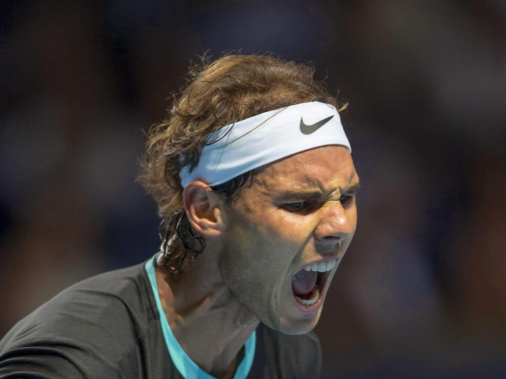 El tenista español Rafael Nadal, durante el partido de primera ronda del torneo de Basilea disputado ante el checo Lukas Rosol
