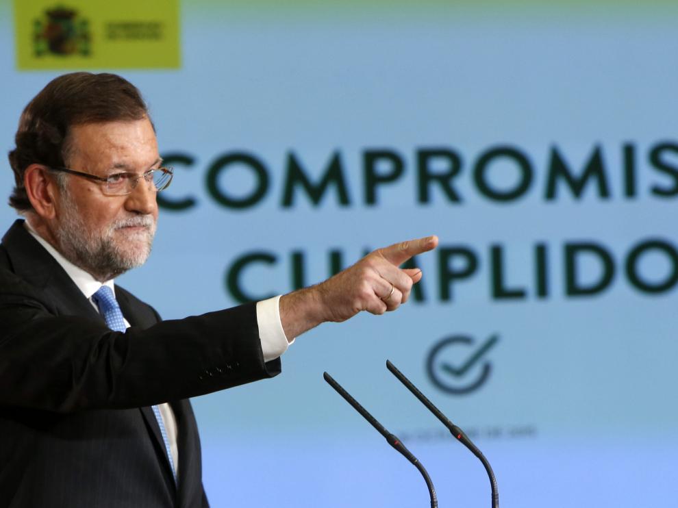 Mariano Rajoy durante la rueda de prensa tras el Consejo de Ministros.