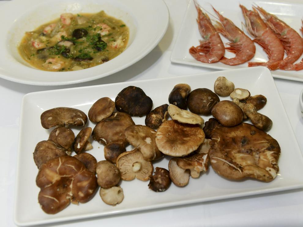 Plato de setas en el restaurante Rincón del Chorro de Albarracín.