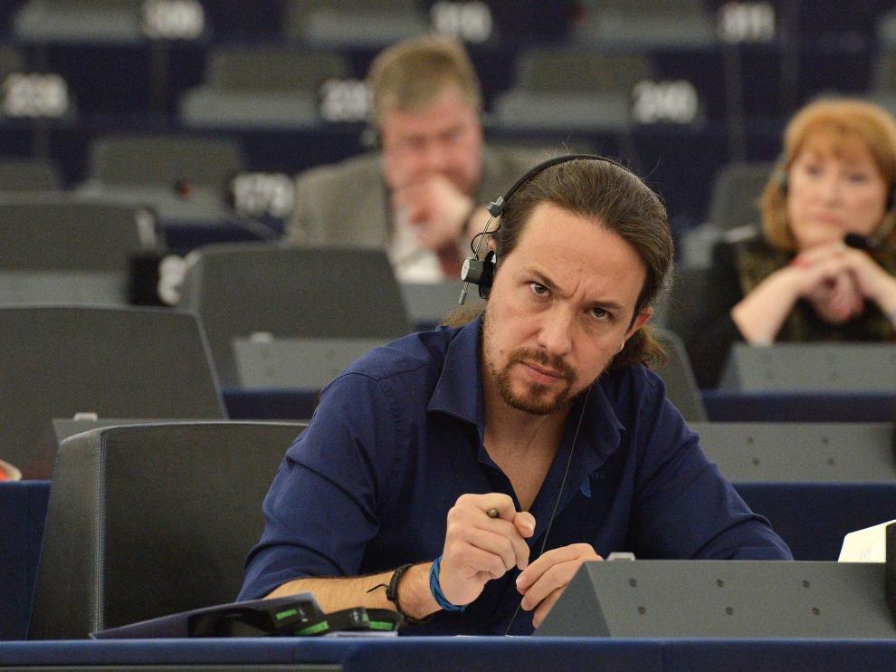Pablo Iglesias durante su último debate en el Parlamento Europeo.
