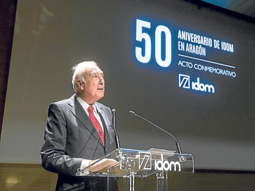 Fernando Querejeta, presidente de la empresa Idom, ayer en Caixaforum en Zaragoza.